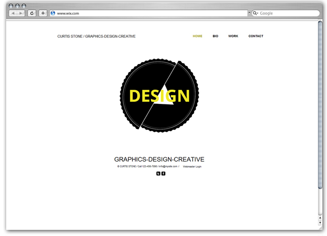 Plantilla Wix de Designer Graphic