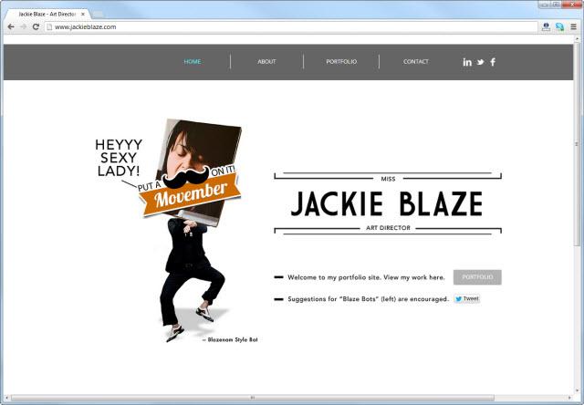 Página de inicio de jackieblaze.com
