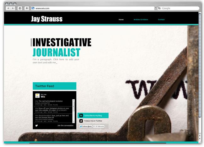 Plantilla Wix de Periodismo