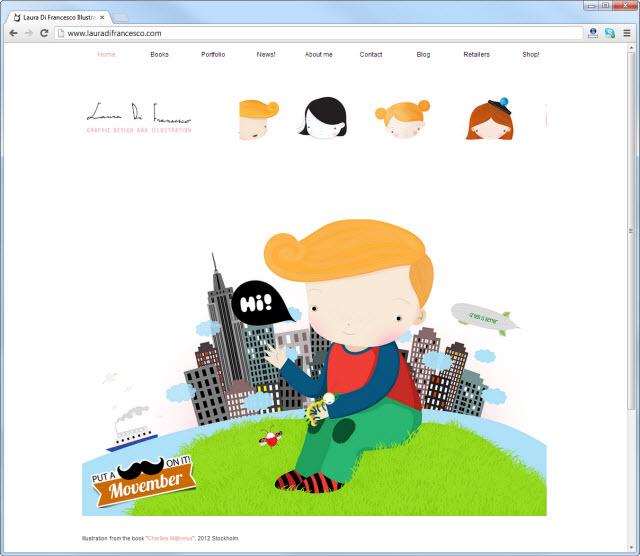 Página de inicio de lauradifrancesco.com