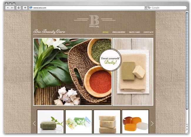Plantilla Wix Organic Skin Care
