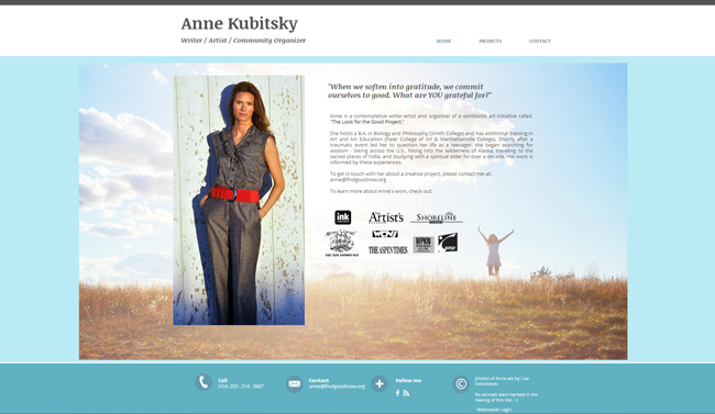 Sitio Web de Anne Kubitsky