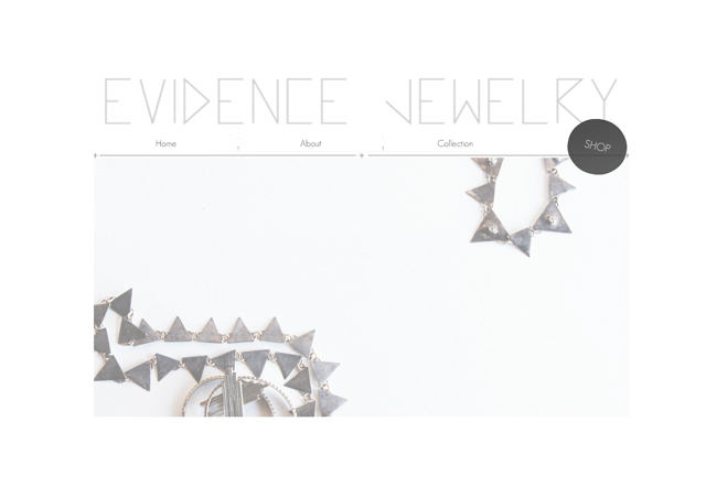 Página de inicio de Evidence Jewelry