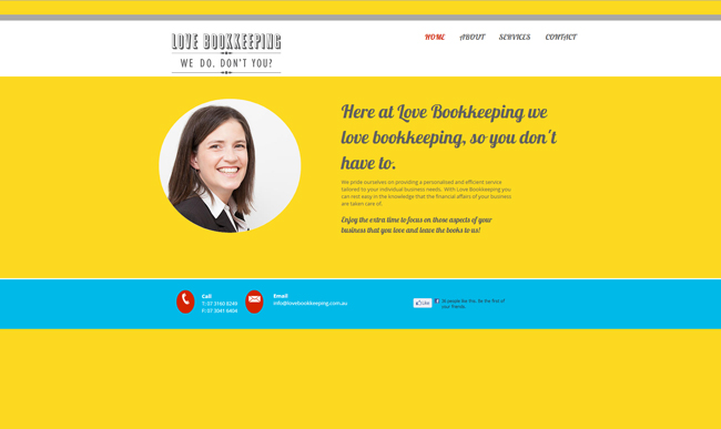 Sitio Web de Love Bookkeeping