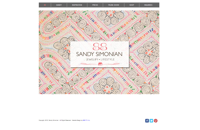 Página de inicio de Sandy Simonian