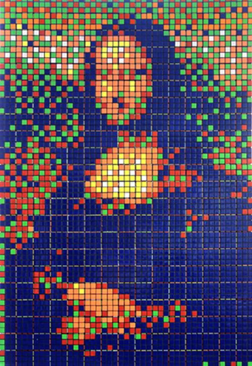 La Mona Lisa en cubos Rubik