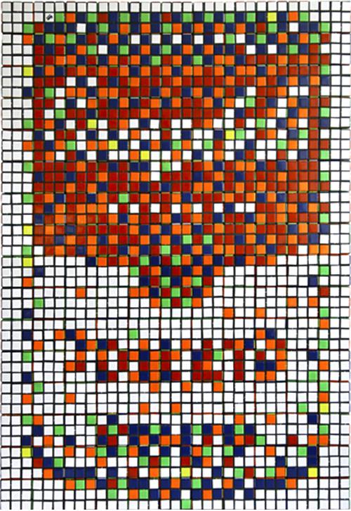 Sopa Campbells en cubos de Rubik