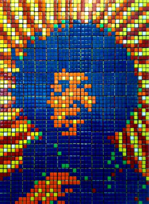 Jimmy Hendrix en cubos de Rubik