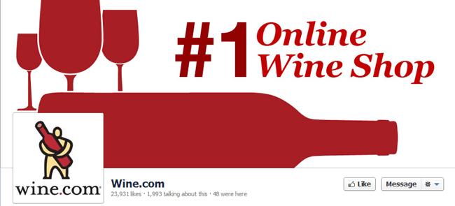 Página de fan de Wine.com
