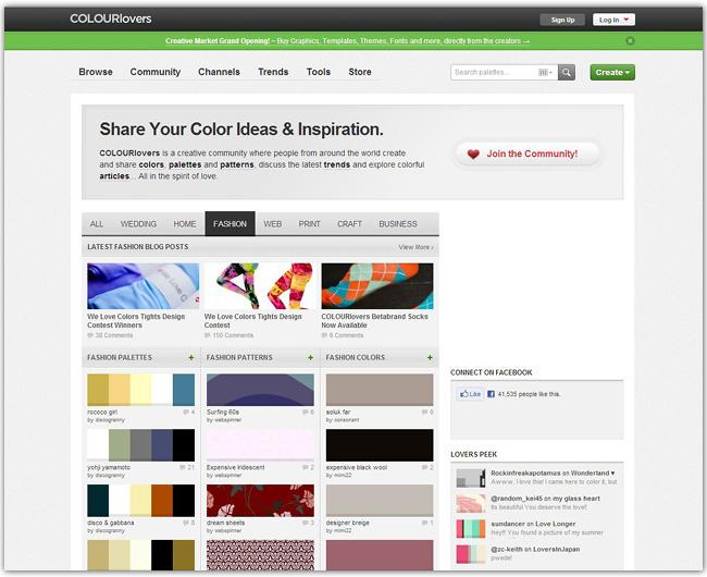 Página de inicio de ColourLovers