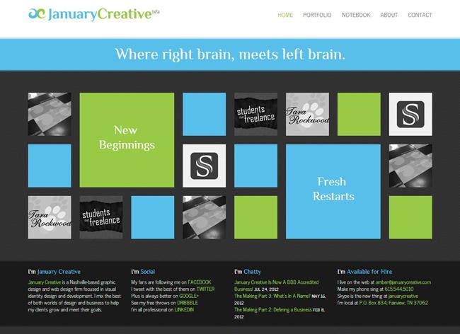 El sitio web de JanuaryCreative