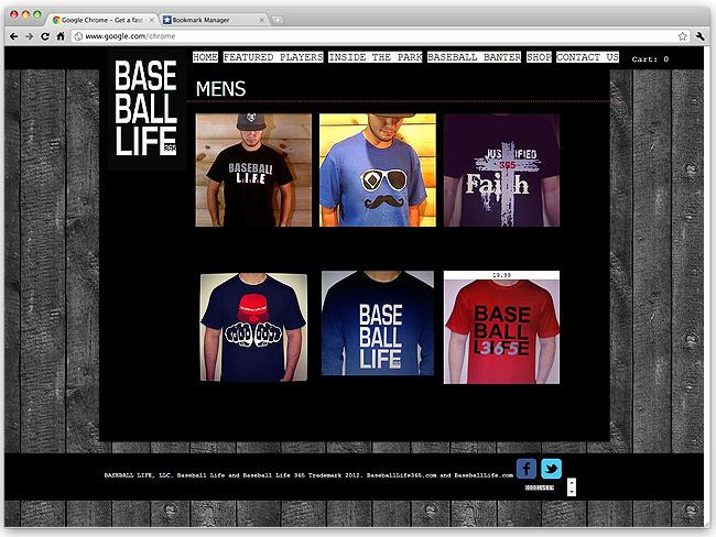 Página de Inicio de Base Ball Life