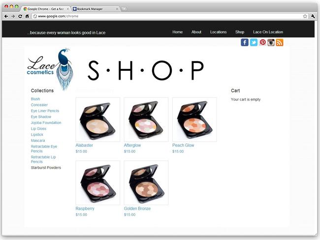Sitio Web exhibe maquillajes