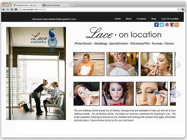 Página de Inicio de Lace Cosmetics