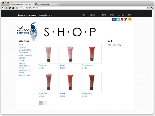 Sitio Web exhibe lápices labiales