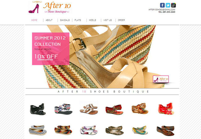 Sitio Web de After 10 Shoes