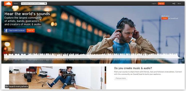 Aplicación SoundCloud