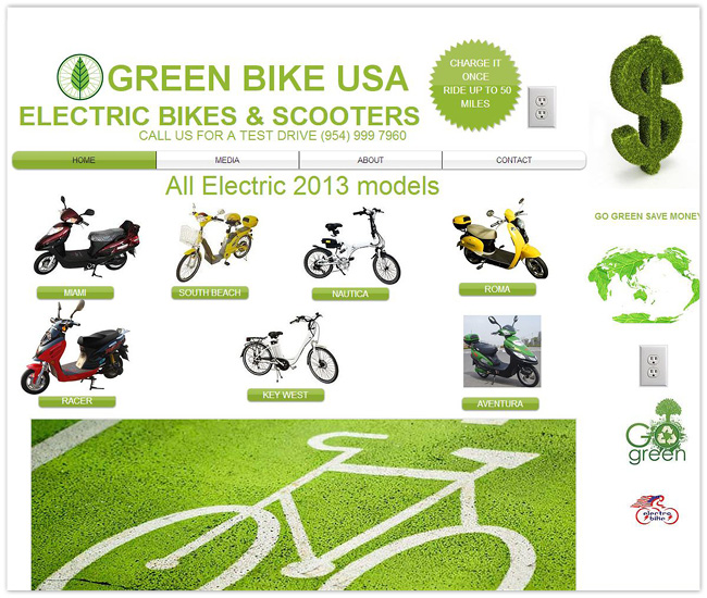 Página de Inicio de Green Bike USA