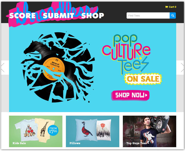 Sitio web de threadless