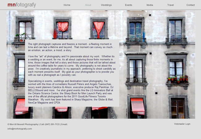Sitio web de MN Fotografy