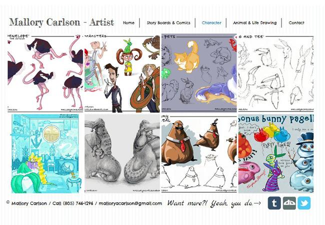 Sitio Web de Mallory Carlson