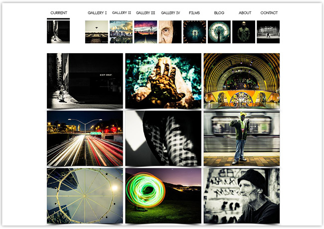 The One Point Eight – Portfolio de fotografía creado con Wix