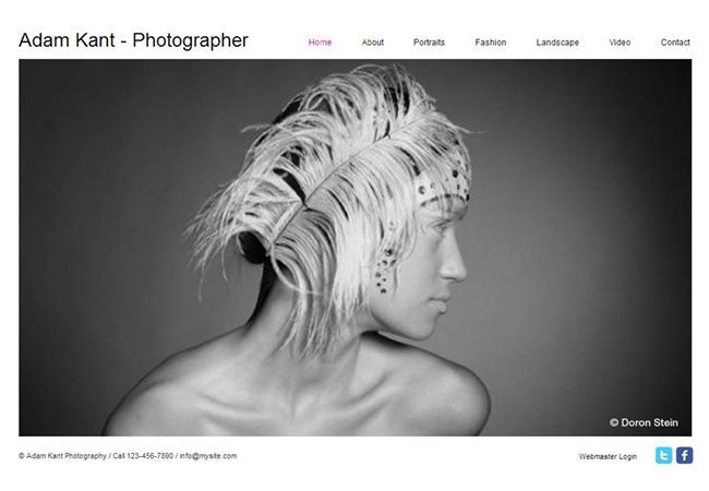 Plantilla Web Personalizable Online Photos