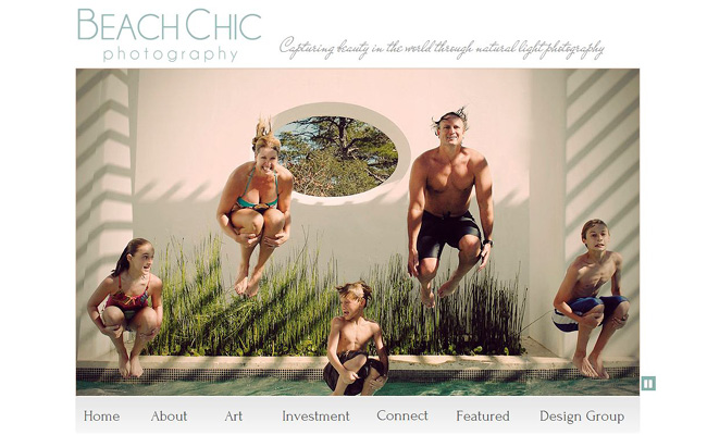 Sitio Web de Beach Chic Photography