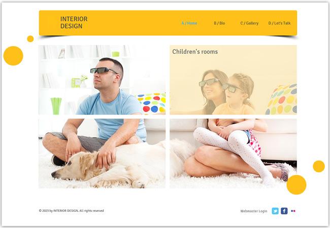 Página de inicio dividida en 4 imágenes