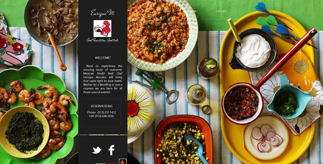 Sitio web de Enrique Morales Catering