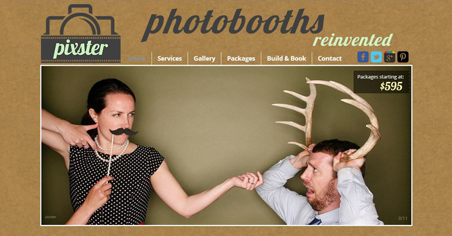 Sitio web de Pixster Photoboot
