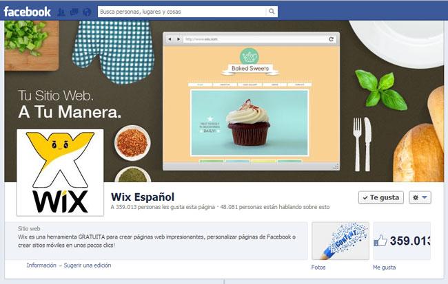 Wix en Facebook