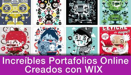 Espectaculares portafolios online creados con wix for Portafolio de diseno grafico pdf