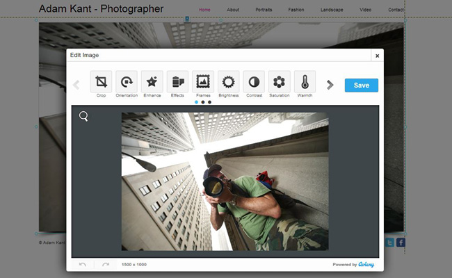 Editor de imágenes online de Wix