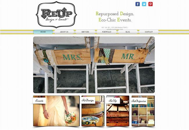 Sitio de ReUp Diseños y Eventos