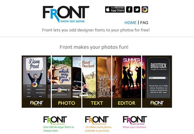 Sitio web sobre una aplicacion de edicion fotografica