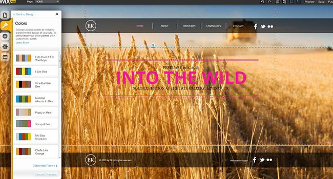 Pantallazo del Editor HTML5
