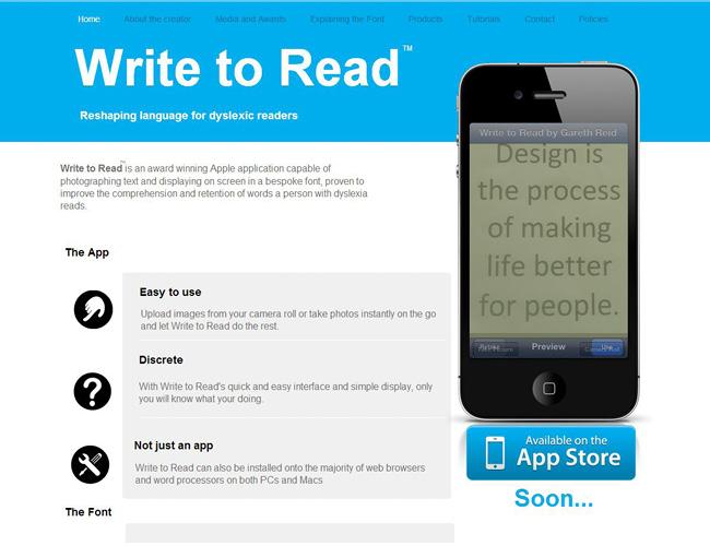Pantallazo de sitio web con una fotografia de un iPhone en primer plano