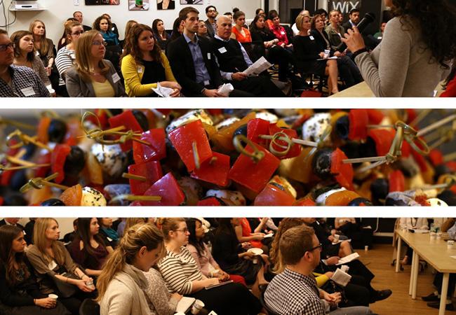 Foto del Encuentro sobre Medios Sociales para Negocios de Alimentos en el Salón Wix. Foto por Galo Delgado