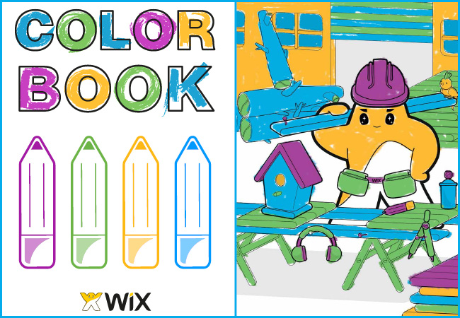 El logo de Wix en colores