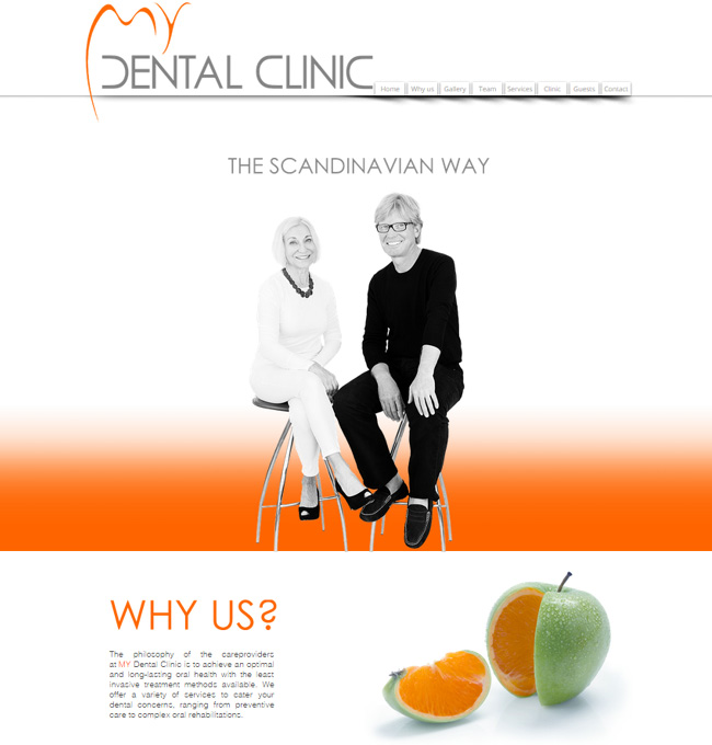 Captura de Pantalla del Sitio Wix de Dental Clinic en Scandinavia