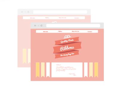 Ilustración de una página web