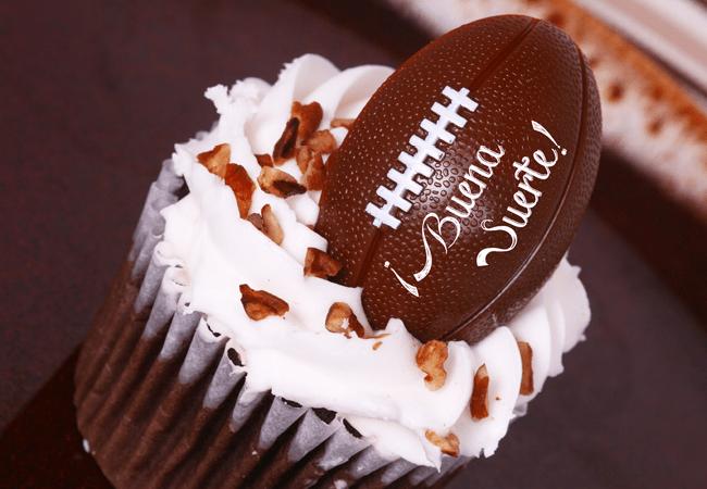 Cupcake de Fútbol Americano