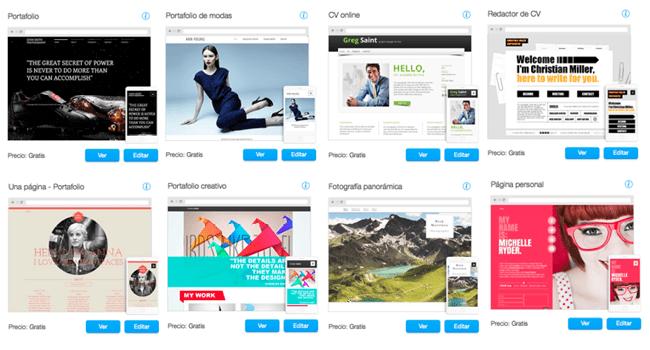 Plantillas web personalizables