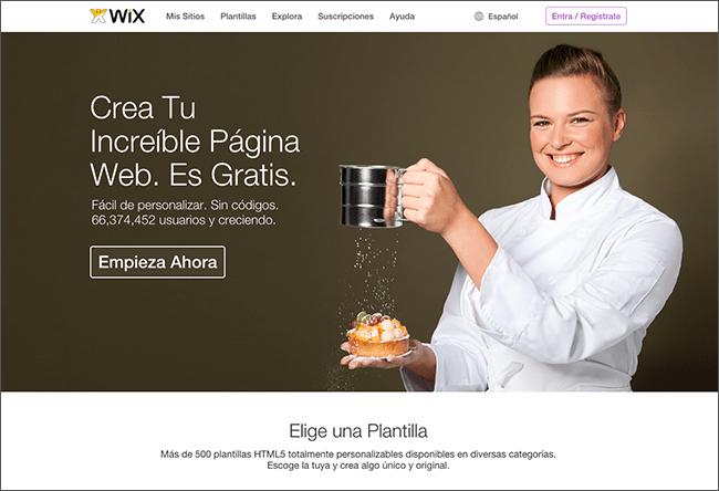 Captura de Pantalla de Wix