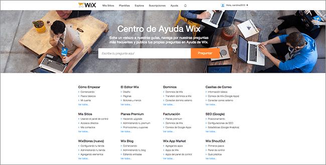 Centro de Ayuda Wix