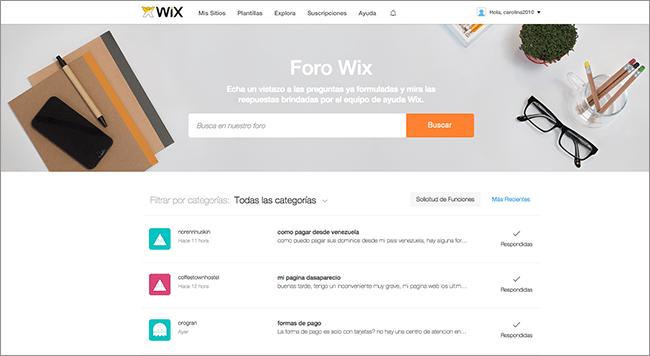 Foro de Wix