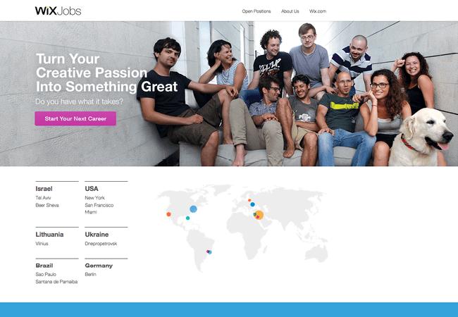 """Captura de Pantalla de la Página Web de Wix, Sección """"Trabajos"""""""