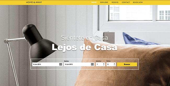Captura de Pantalla de la página web de WixHotels