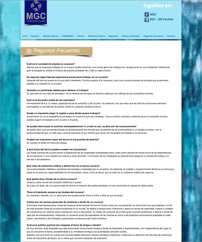 MCG Cruceros FAQ II